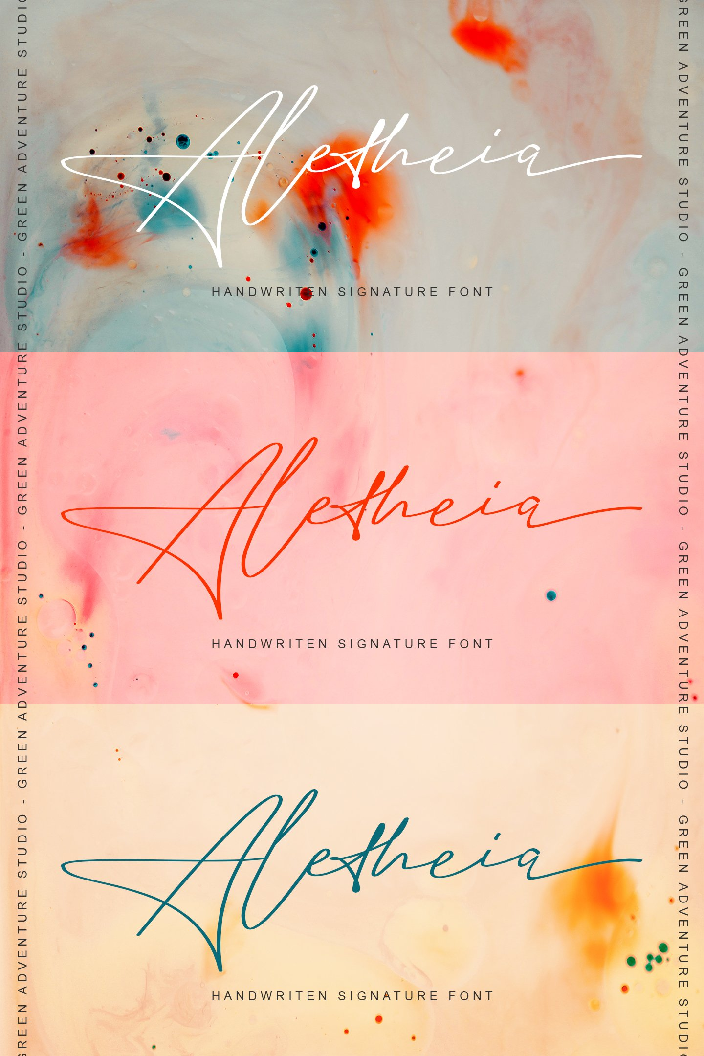 Aletheia | A Handwritten Signature Font example image 12