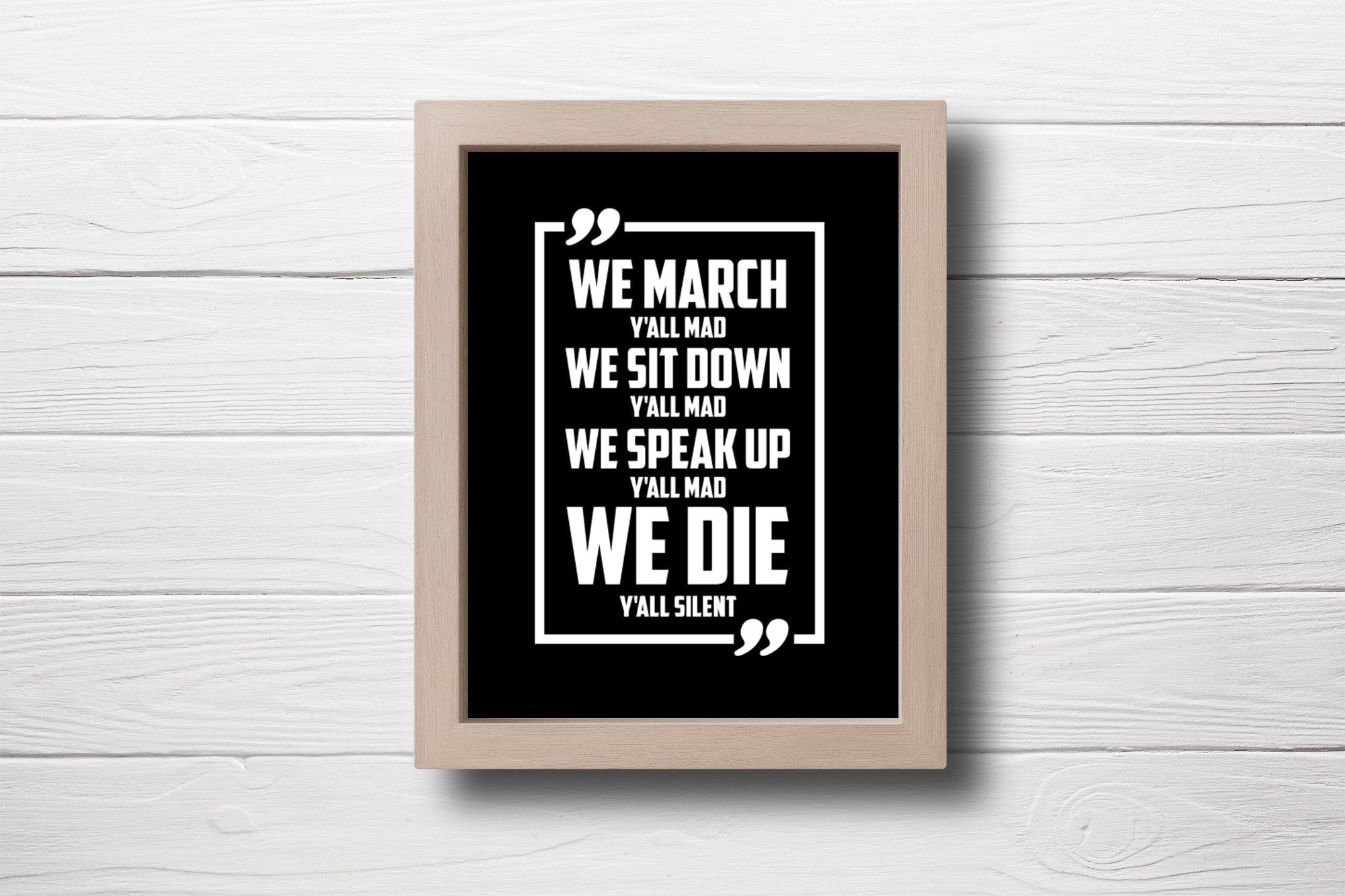 Black Lives Matter SVG, BLM Quote SVG Cut File example image 2