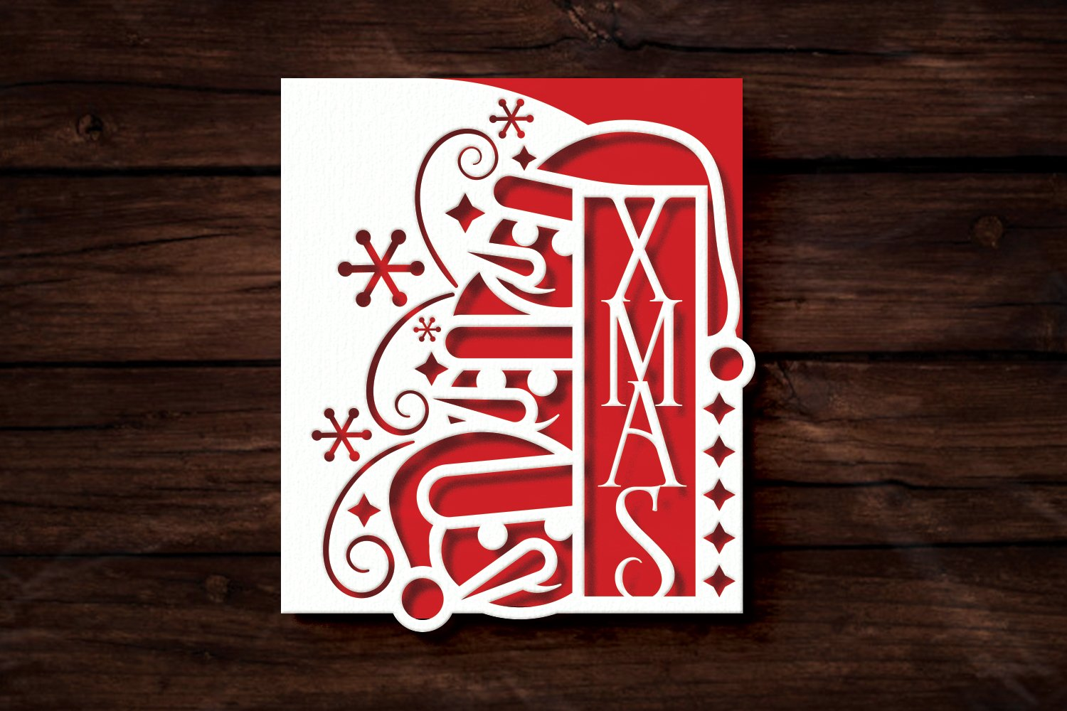 Papercut Christmas Snowman Card Cover, Snowflake, Spiral example image 3