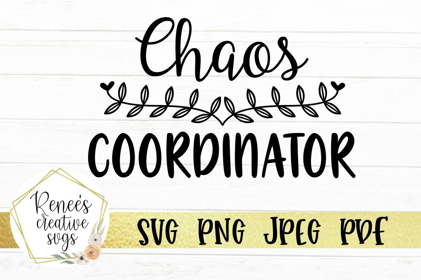 Chaos Coordinator | Humor | SVG Cutting File example image 1