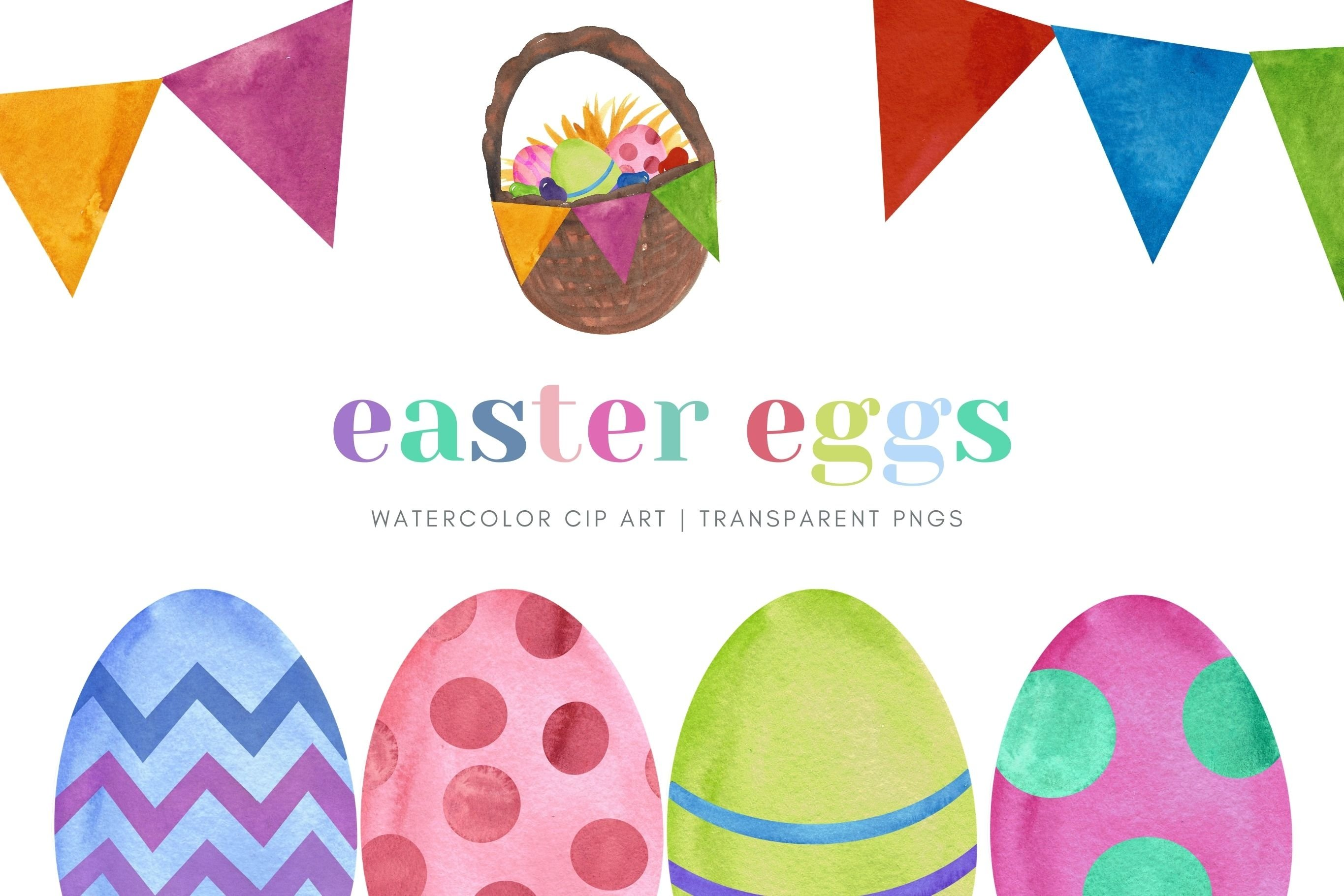 Easter Egg Watercolor Clip Art Sublimation Jelly Beans example image 1