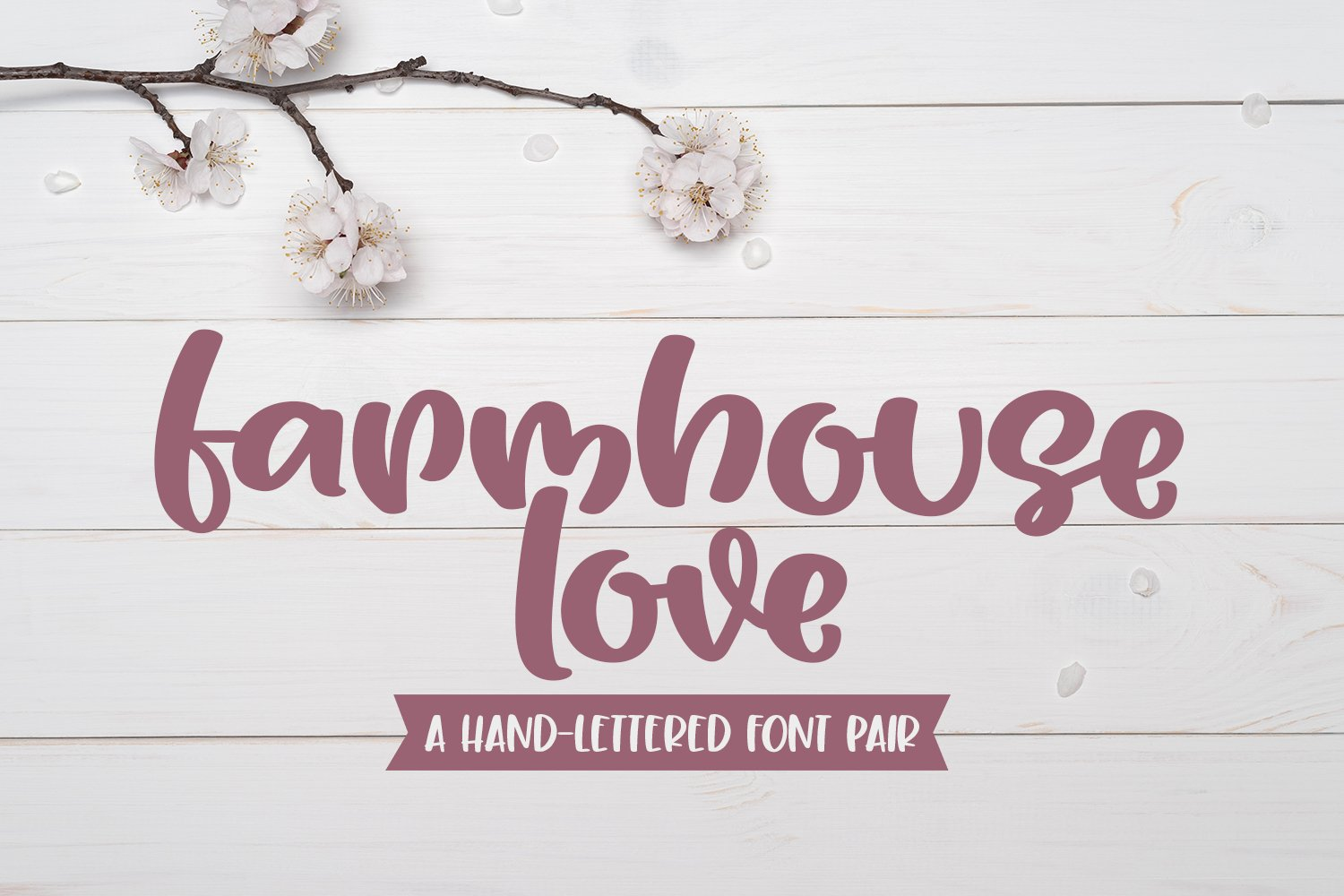 Farmhouse Love - A Playful Handlettered Font Pair example image 1