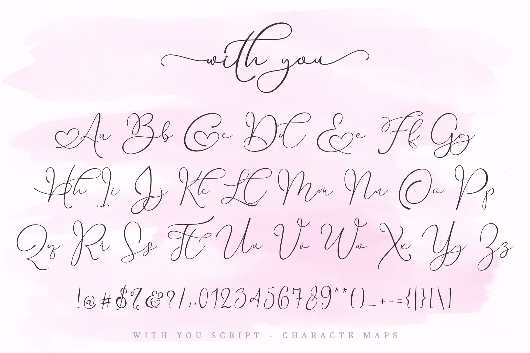 With You // Lovely Script Font example image 11