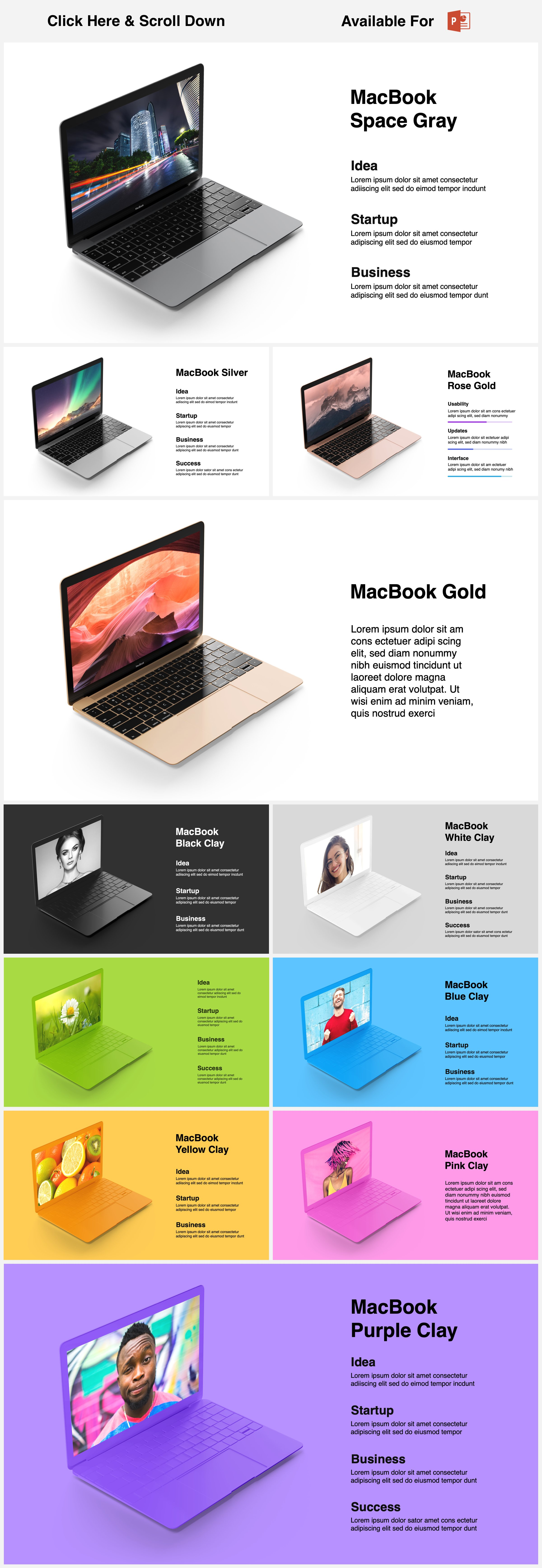 Animated Mockups Presentation Bundle. Infographic Templates. example image 9
