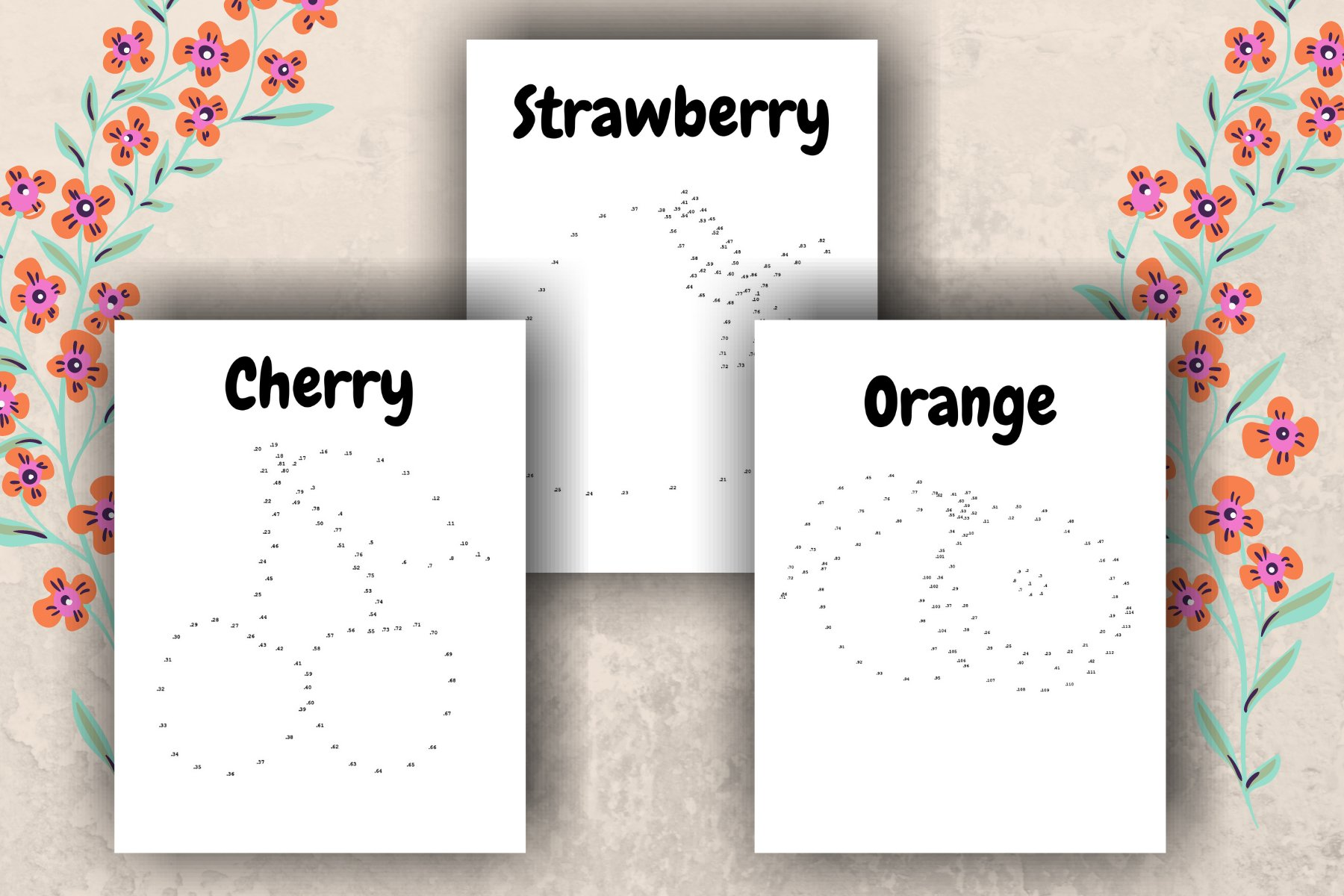 Dot-to-Dot Fruits Printable Activity Pages example image 2