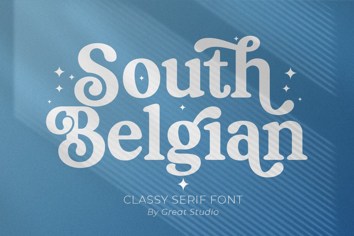 South Belgian Serif Font example image 1