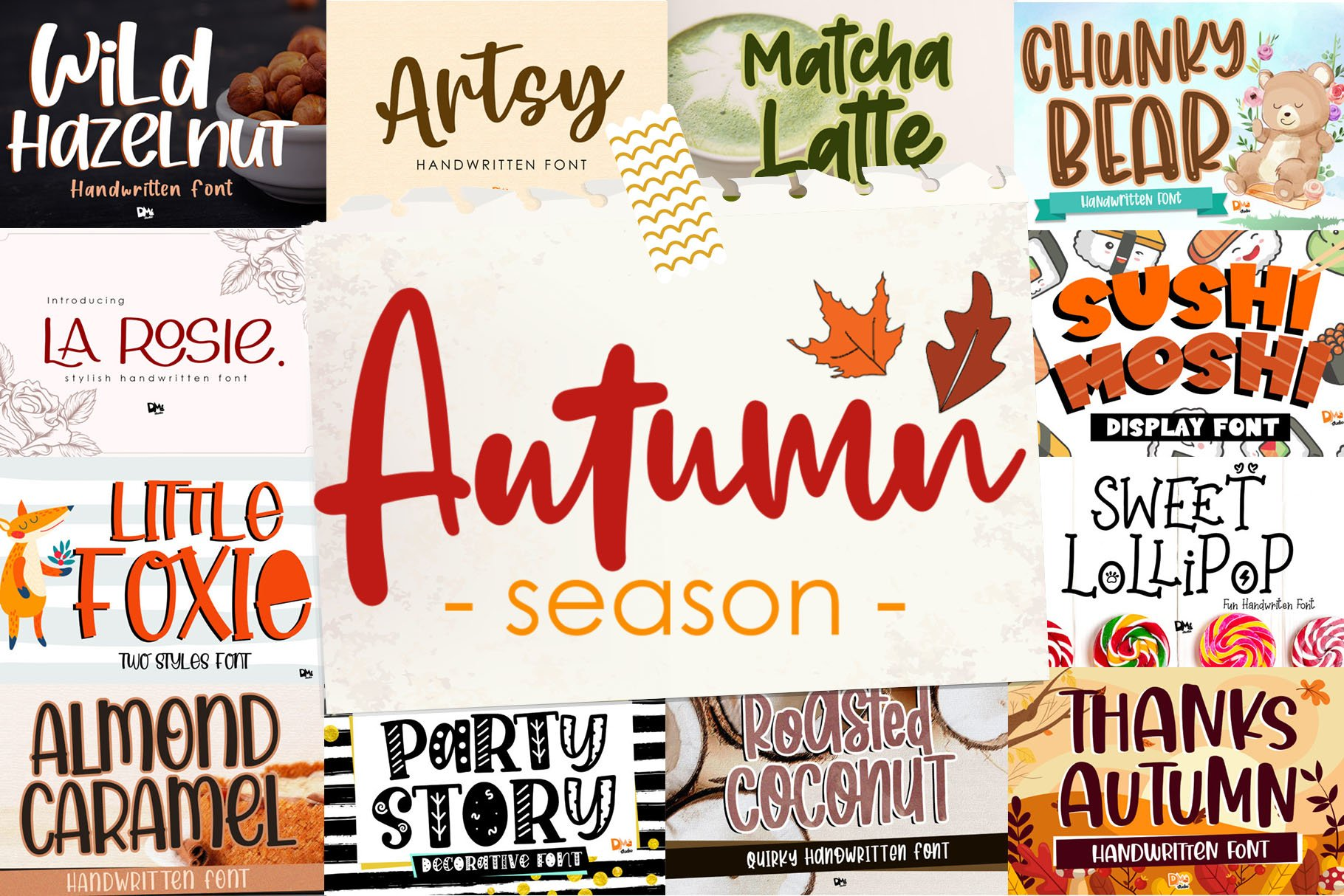 BIG BUNDLE - Seasonal Crafting Font Collection!! example image 8