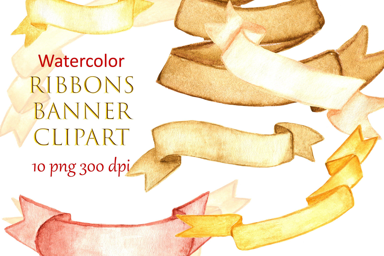 clip art Hand painted separate png Watercolor Banners diy elements vintage Light mint blue palette ribbons Clipart: 25 Digital files