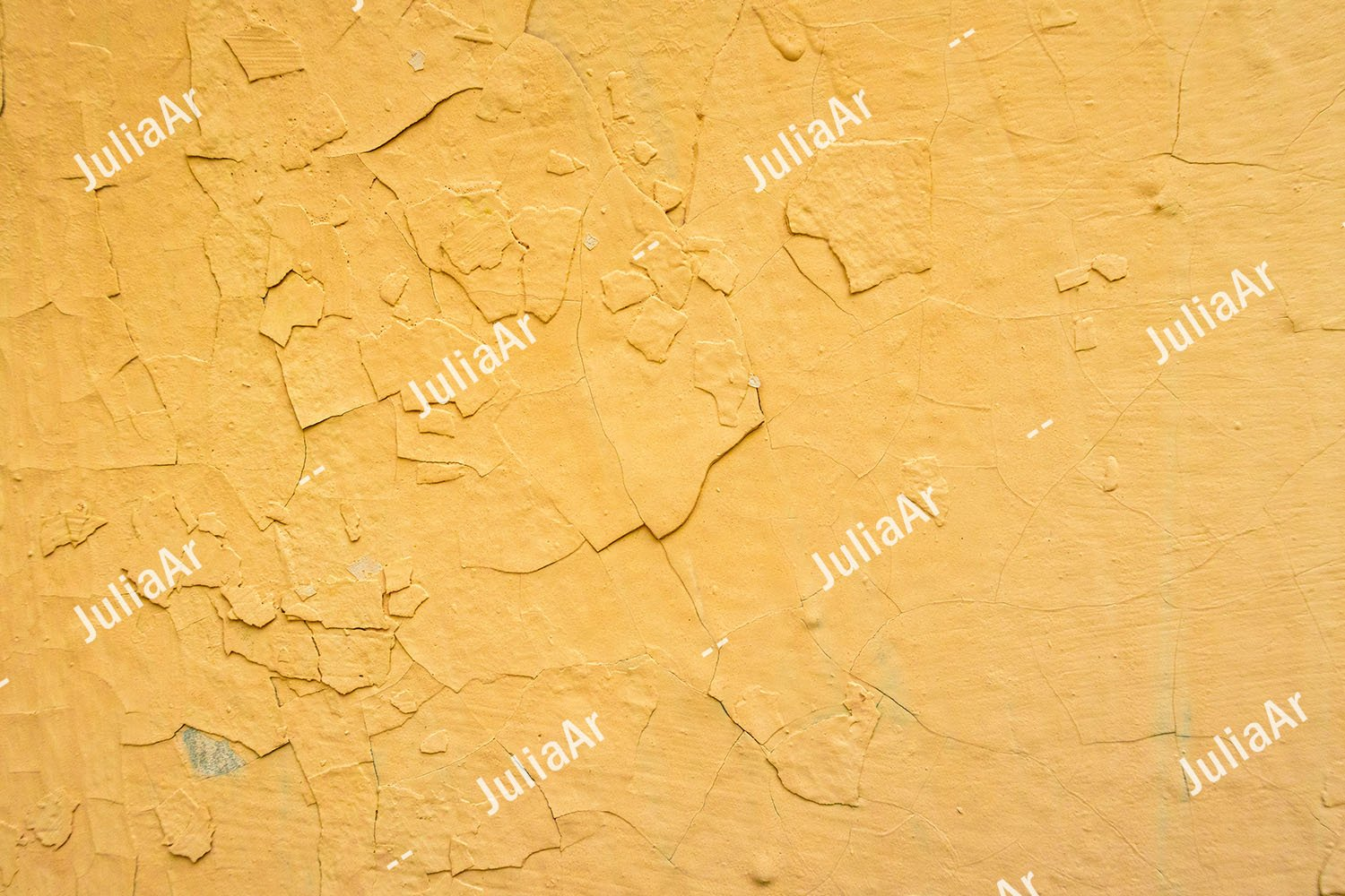 Yellow wall with peeling paint. A lot of paint layers. example image 1