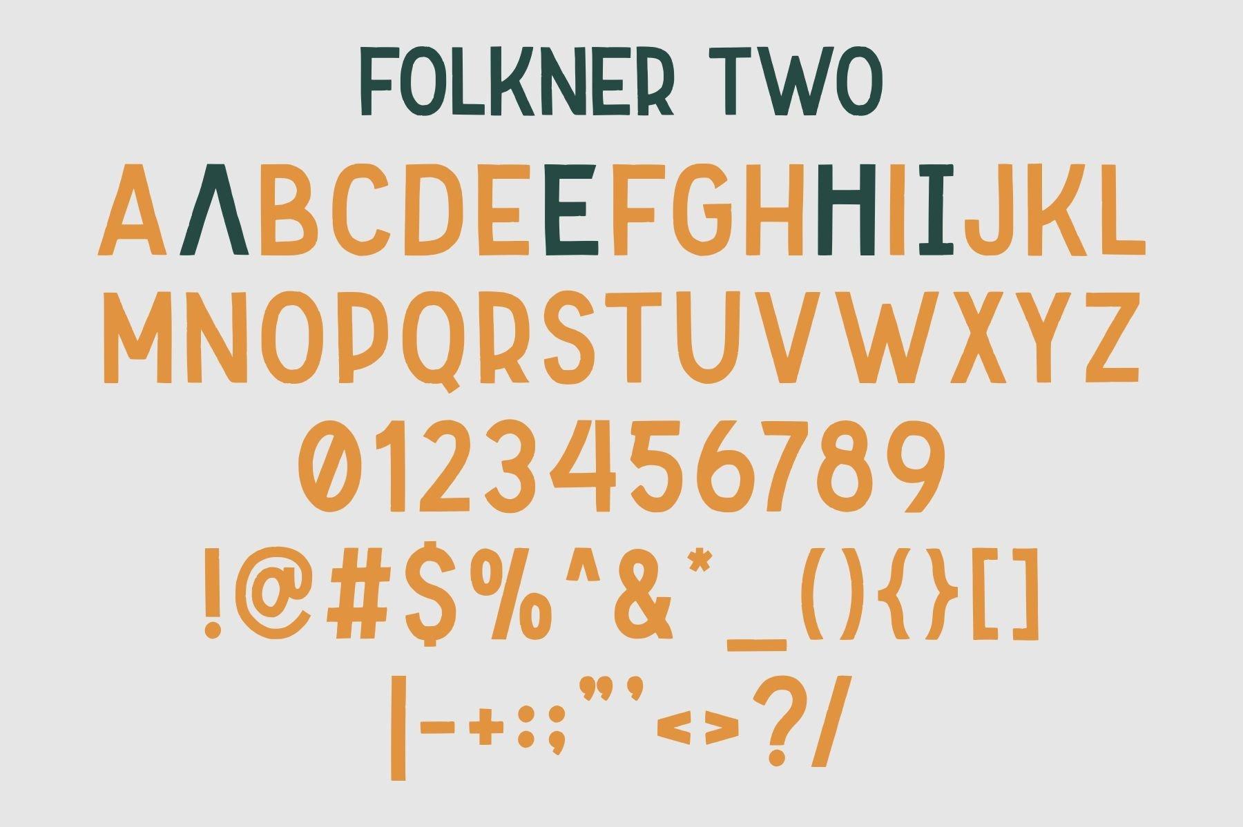 Folkner - Vintage Typeface example image 7