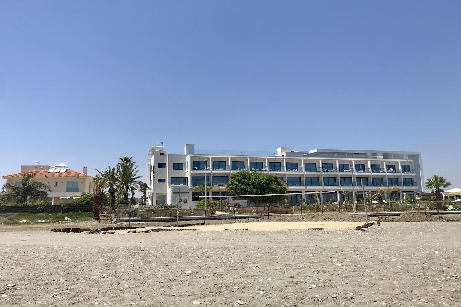 hotel on the beach in larnaka cyprus example image 1