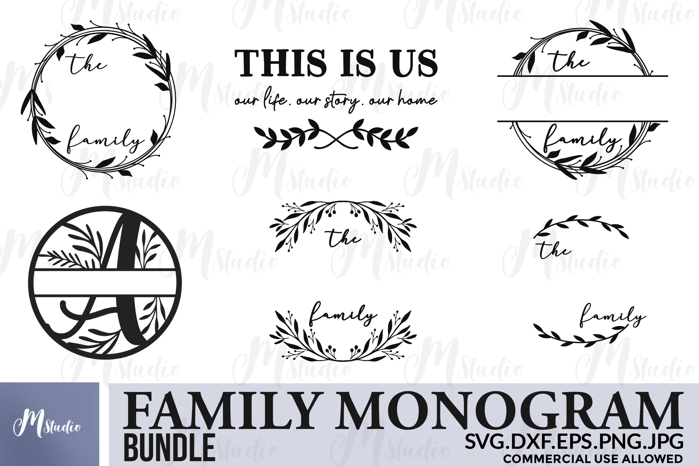 Family Monogram Bundle Svg Free Split Monogram Letters 484069 Cut Files Design Bundles