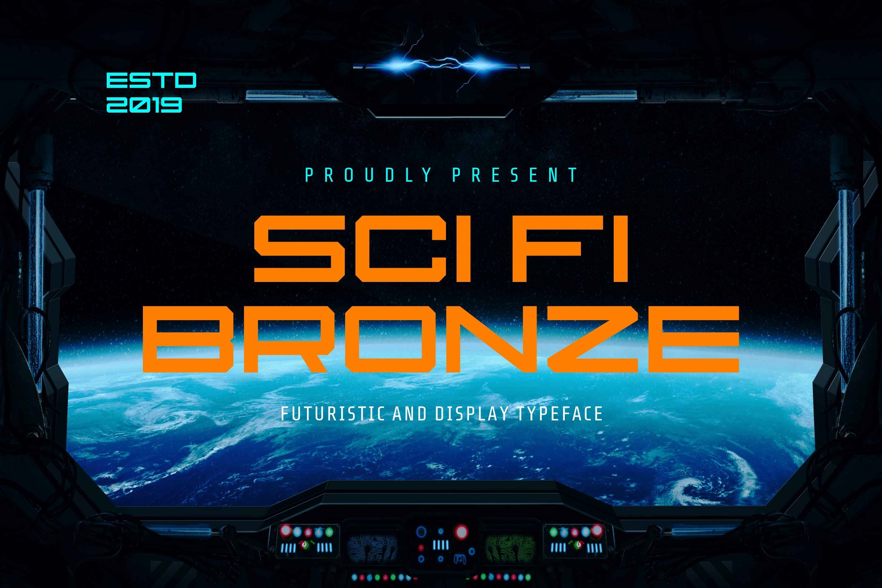 Bronze Modern and Futuristic Font example image 1