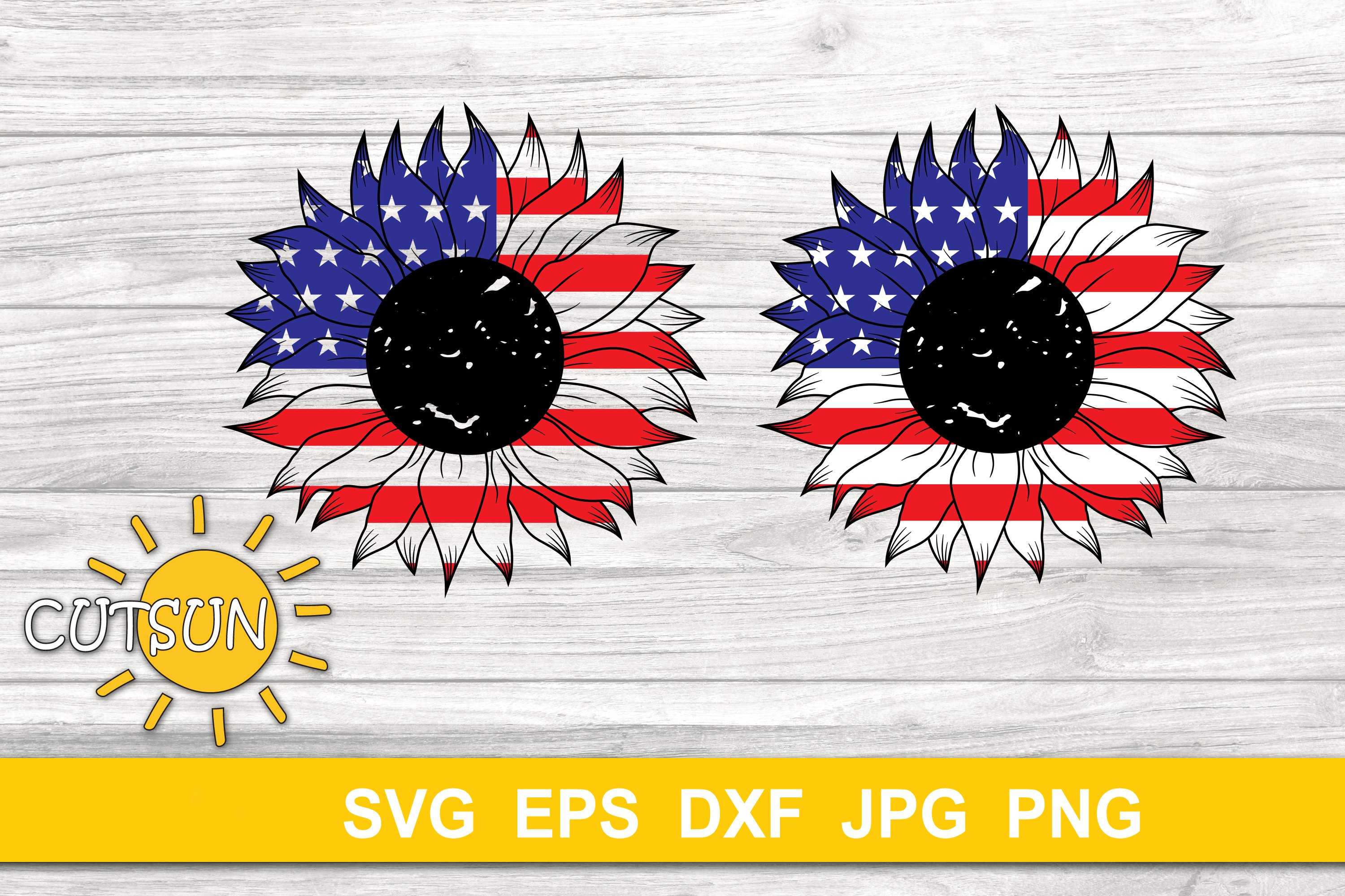 USA Sunflower SVG cut file example image 4