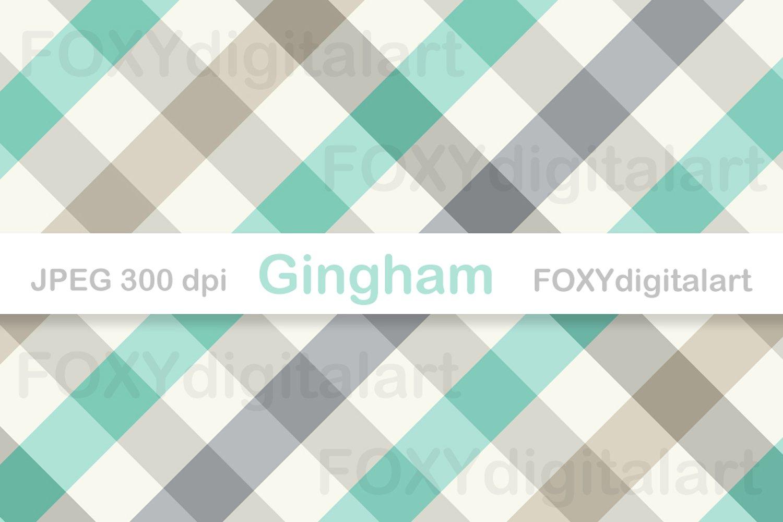 Gingham Digital Paper Pack Table Cloth Patterns 293228 Backgrounds Design Bundles