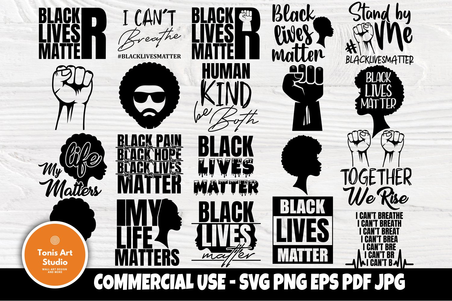 Black Lives Matter Svg Bundle I Cant Breathe Svg Black Svg 666048 Cut Files Design Bundles