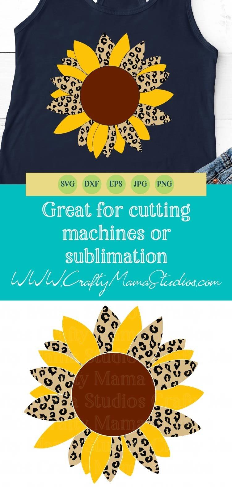 Download Sunflower Svg, Leopard Print Sunflower Svg, Summer (537803 ...
