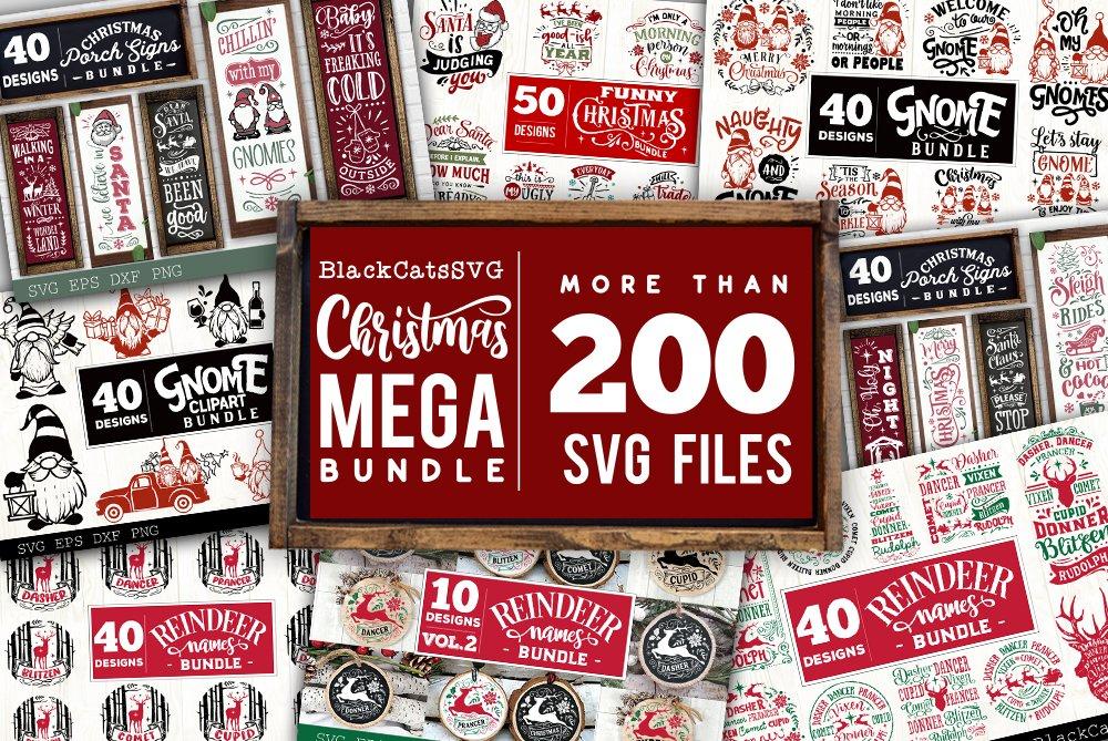 Christmas Mega Bundle SVG bundle 210 designs