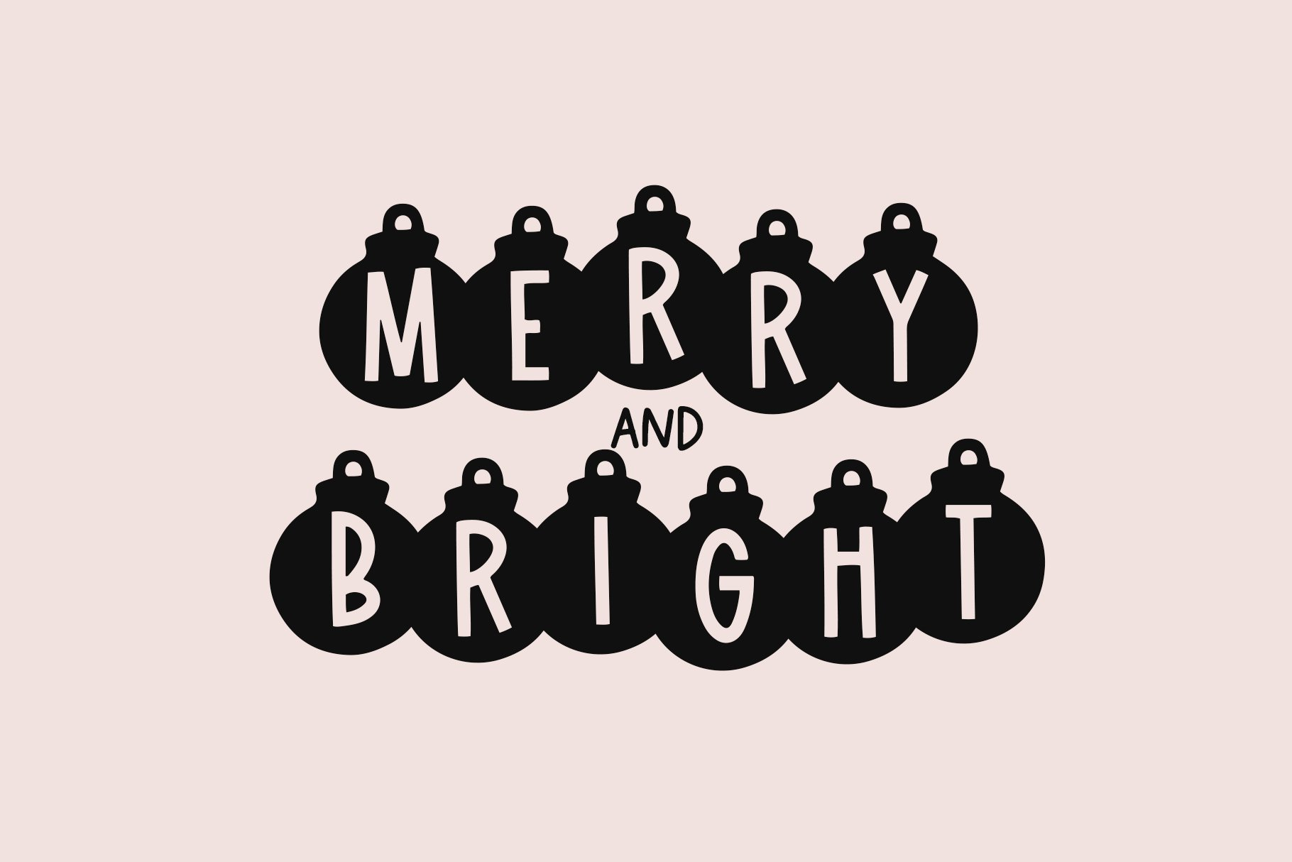 Lights - A Fun Holiday Font example image 6