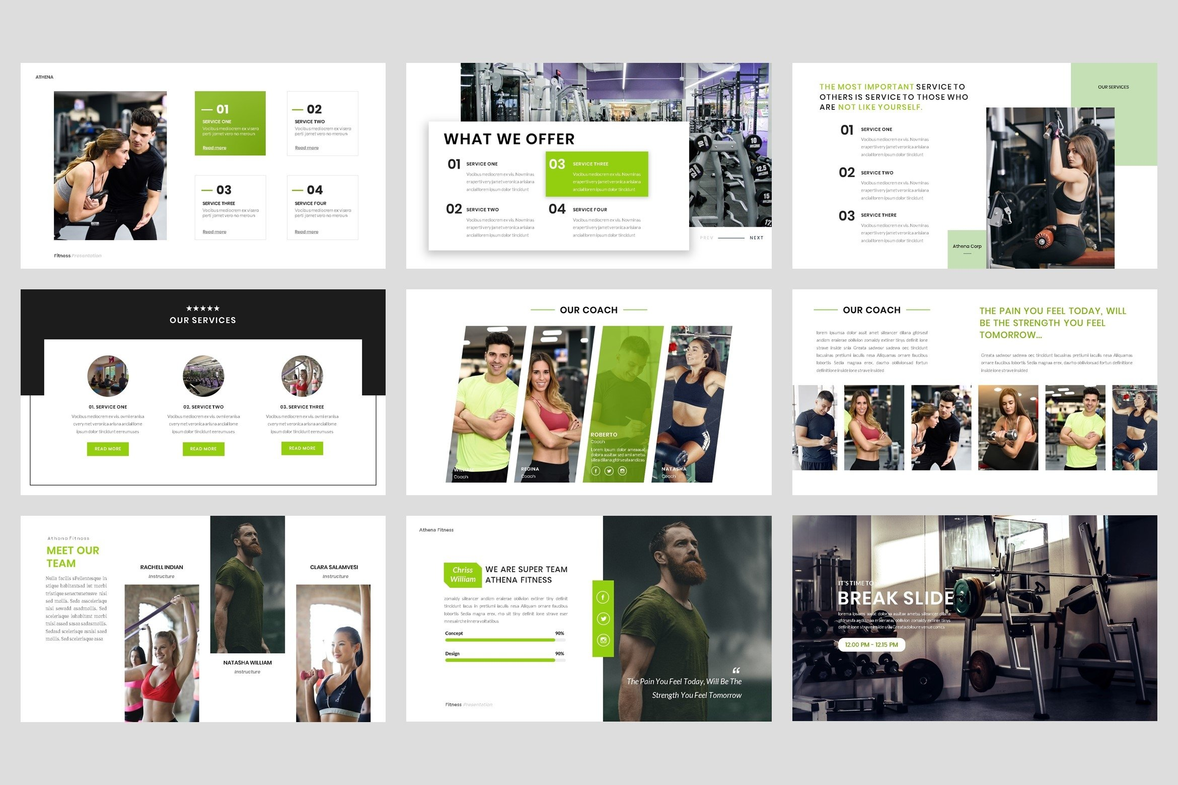 Sport - Fitness Business Workout PowerPoint Template example image 4