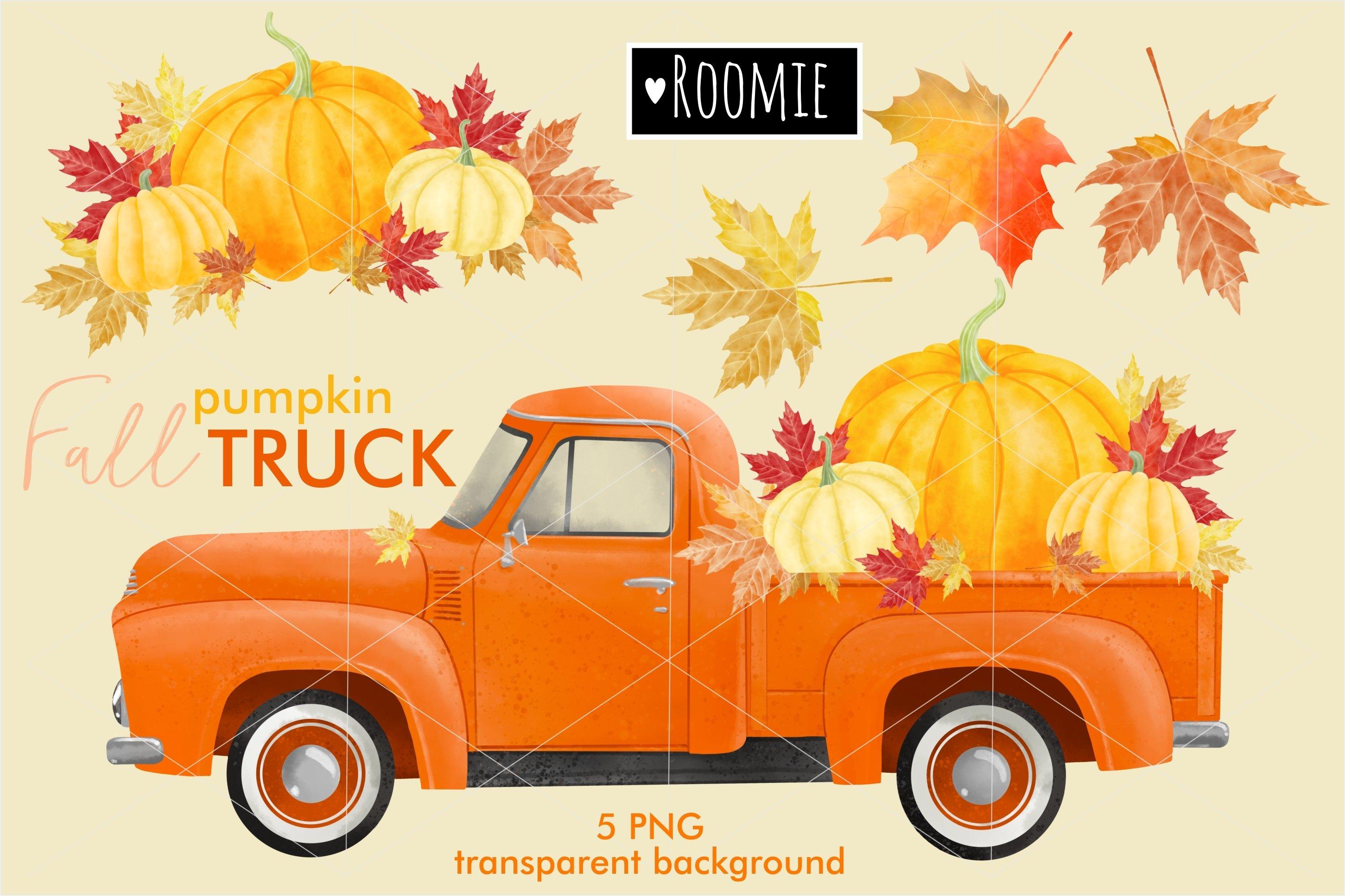 Fall Vintage Pumpkin Truck Png Watercolor Clipart Retro Car 972520 Illustrations Design Bundles