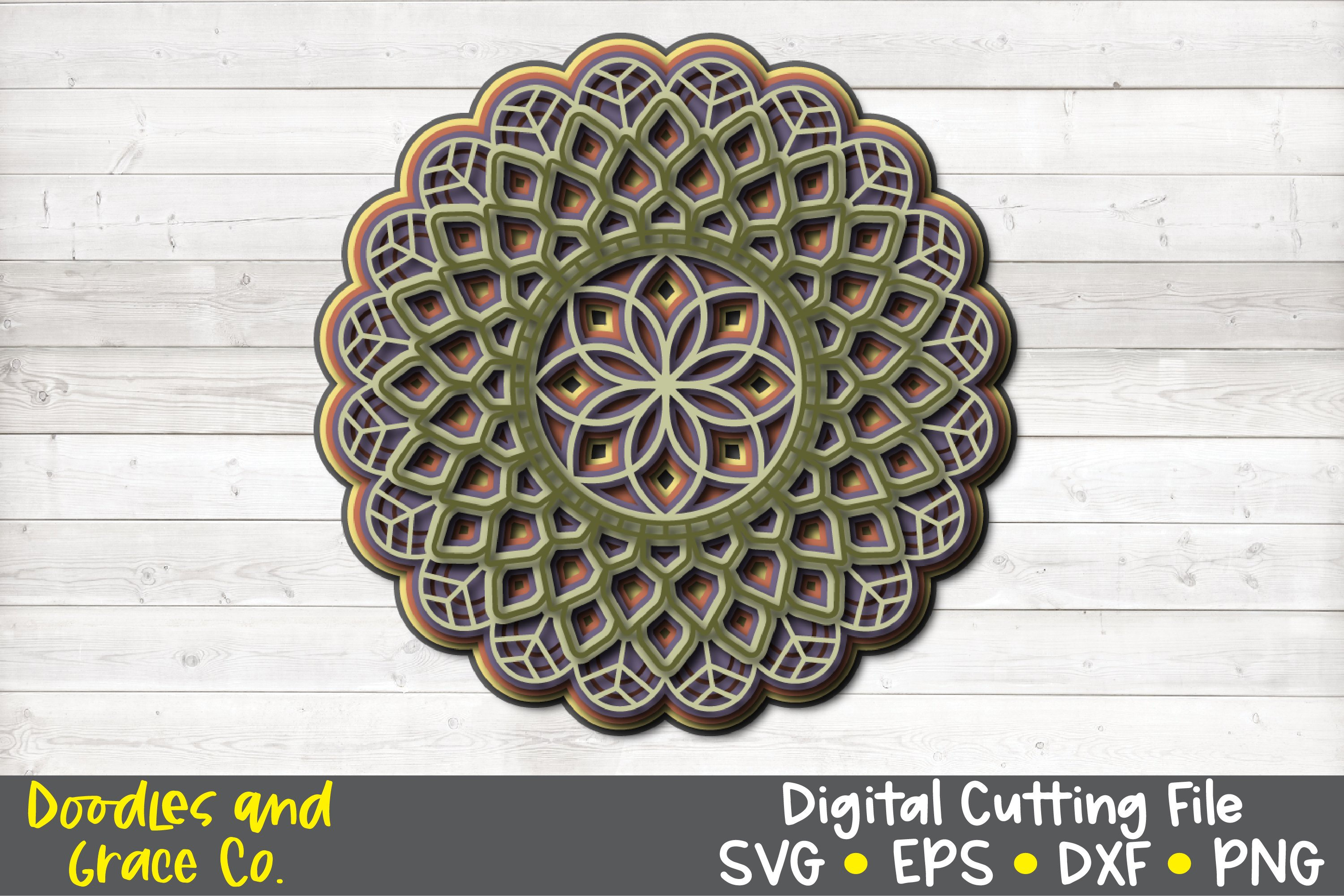 3D Layered Mandala Bundle - SVG - PNG - EPS - DXF example image 6