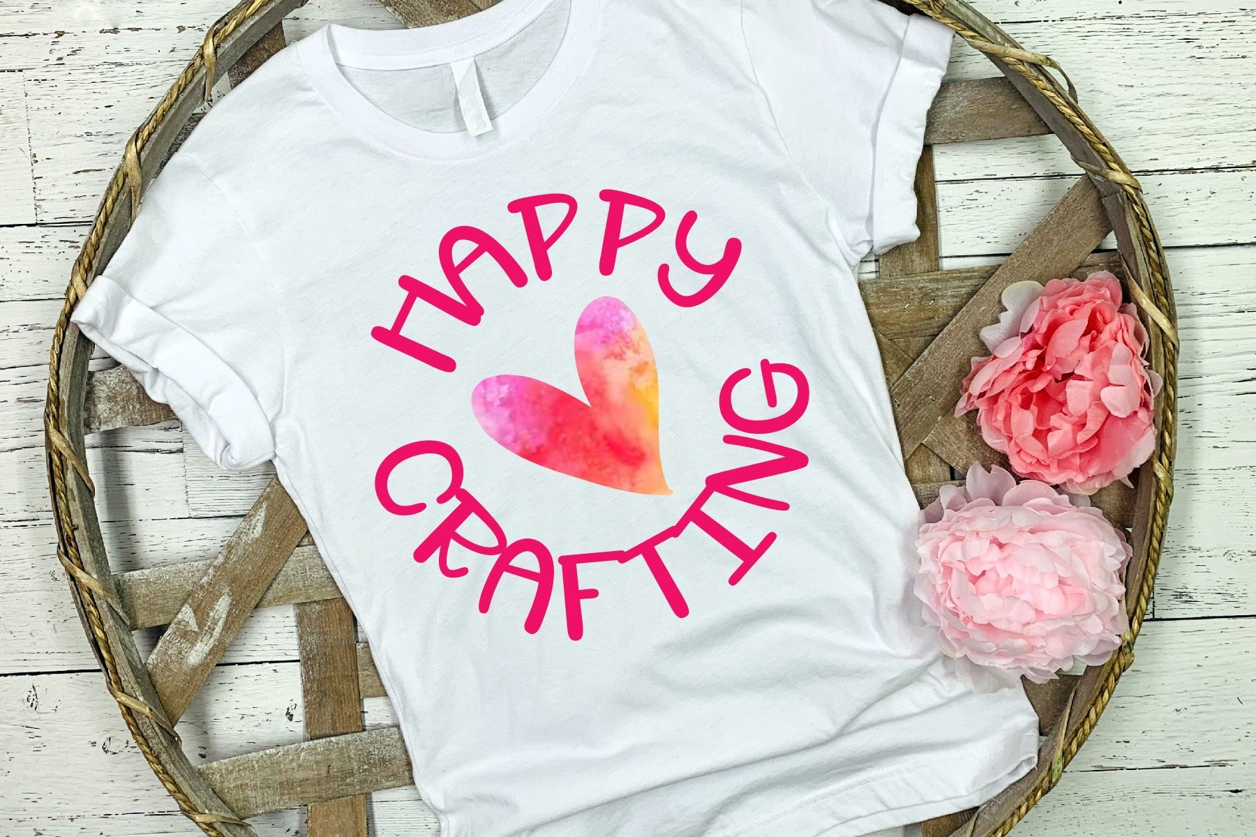 Happy Crafting SVG DXF PNG example image 1