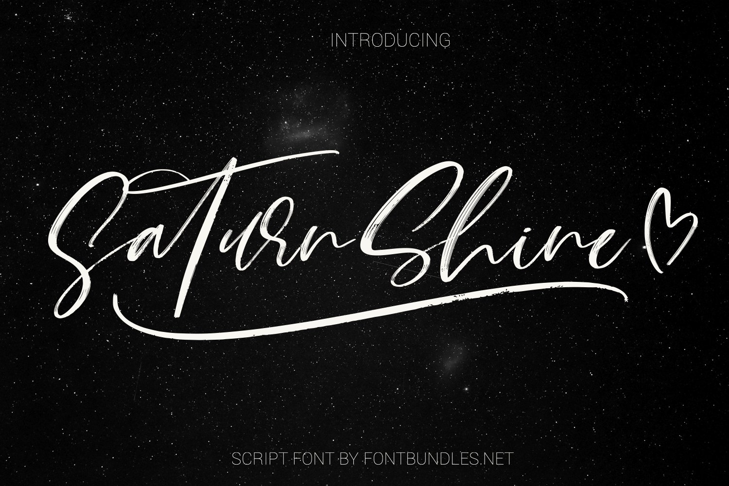 Saturn Shine. Textured script font example image 1