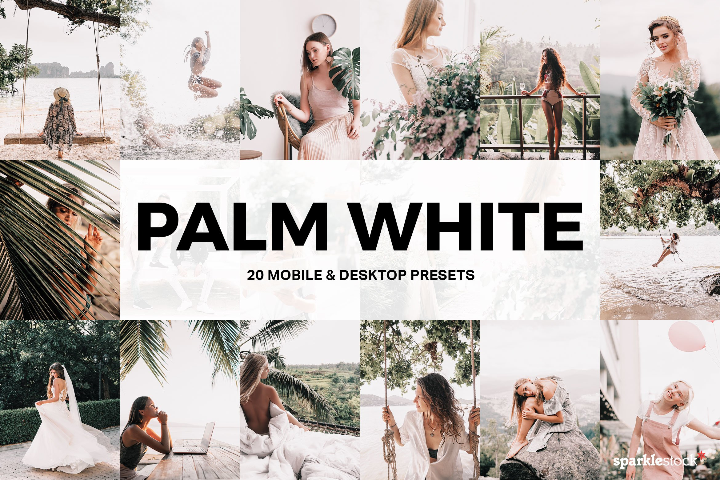 20 Palm White Lightroom Presets and LUTs example image 1