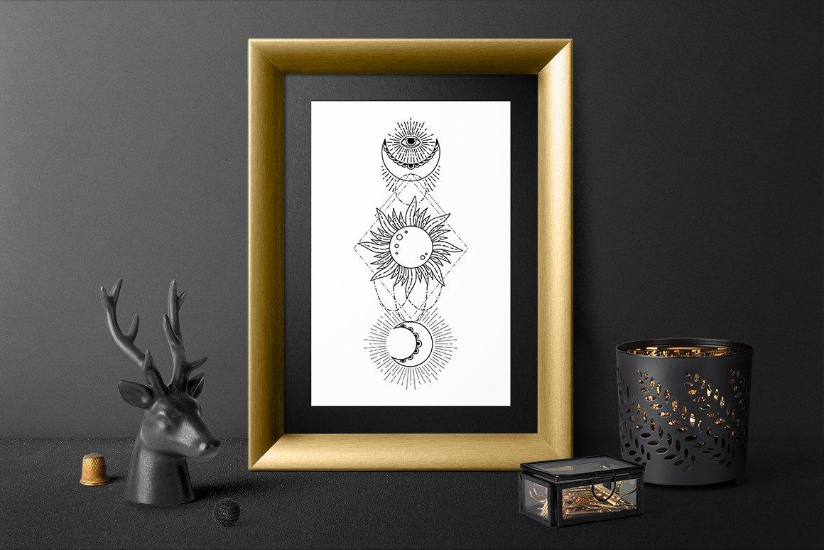 Boho illustration | Mystical Line art example image 2