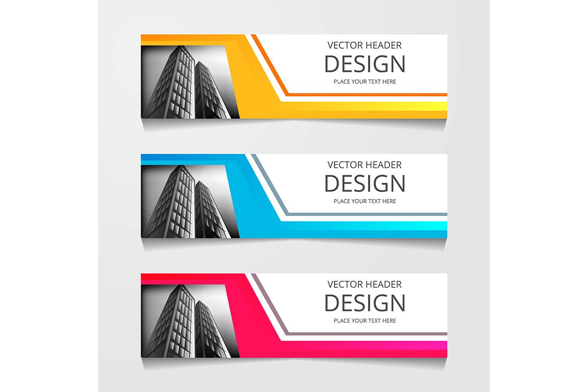 Abstract Web banner design background or header Templates example image 1