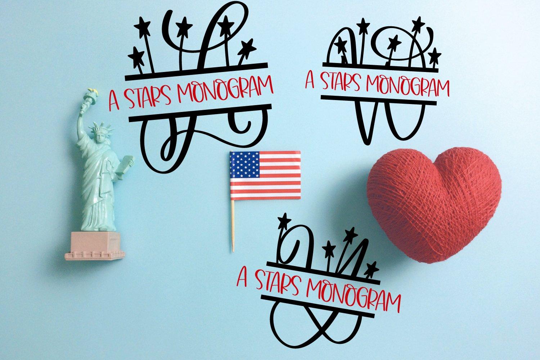 A Stars Split American Monogram Font example image 6