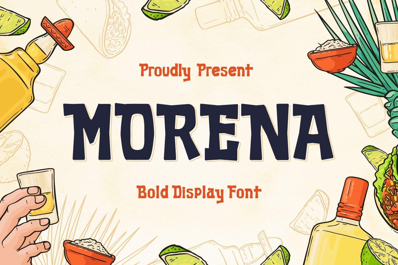 Morena - Bold Display Font example image 1