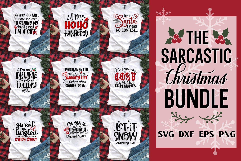 Sarcastic Christmas Bundle, Christmas Svg Bundle, Funny Svgs