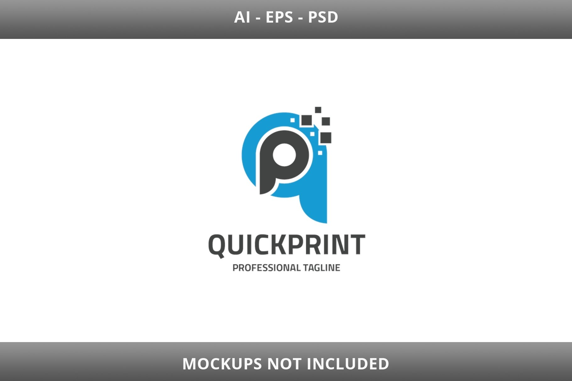 Quick Print Letter QP Logo example image 1