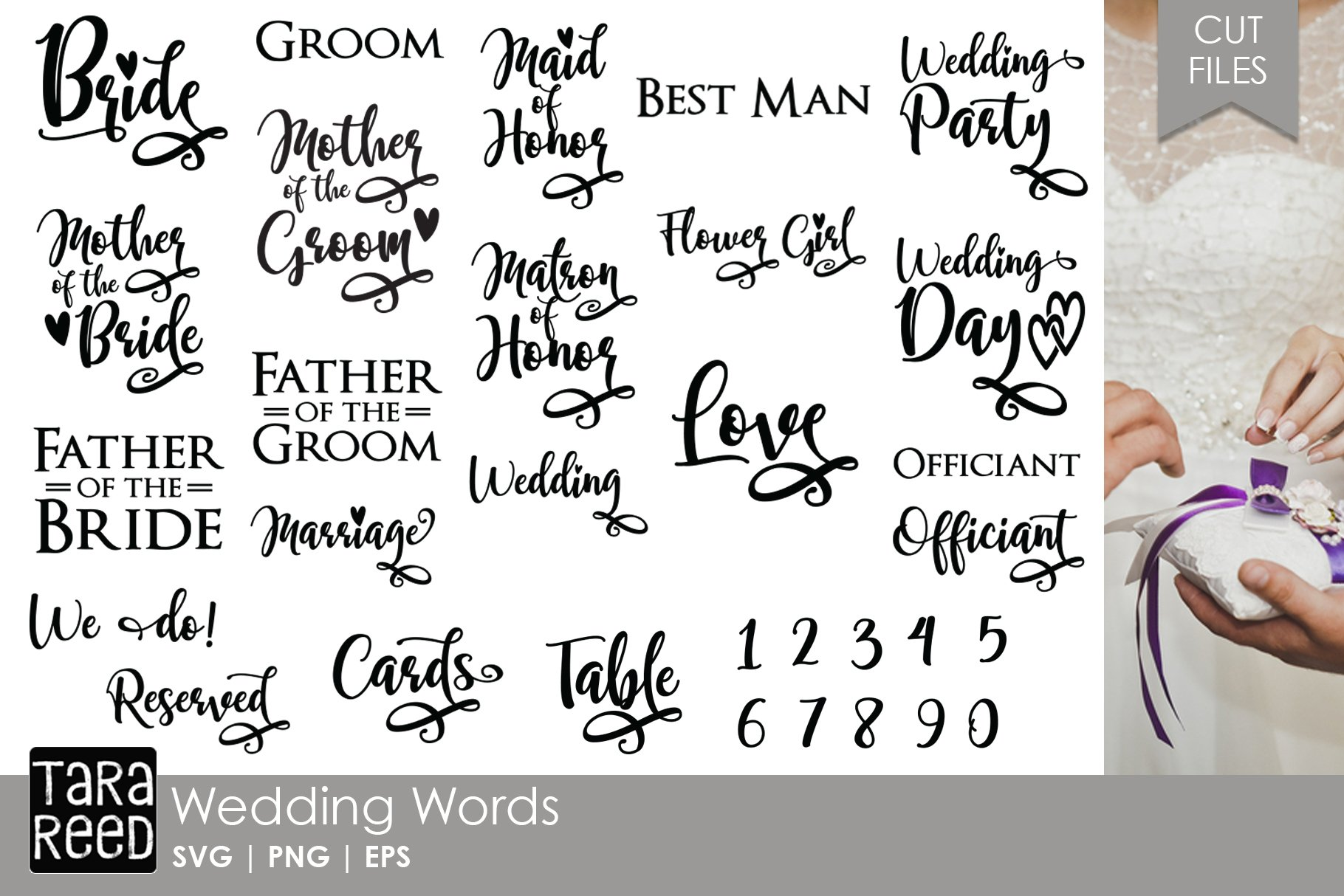 Wedding Words - Bridal SVG and Cut Files for Crafters