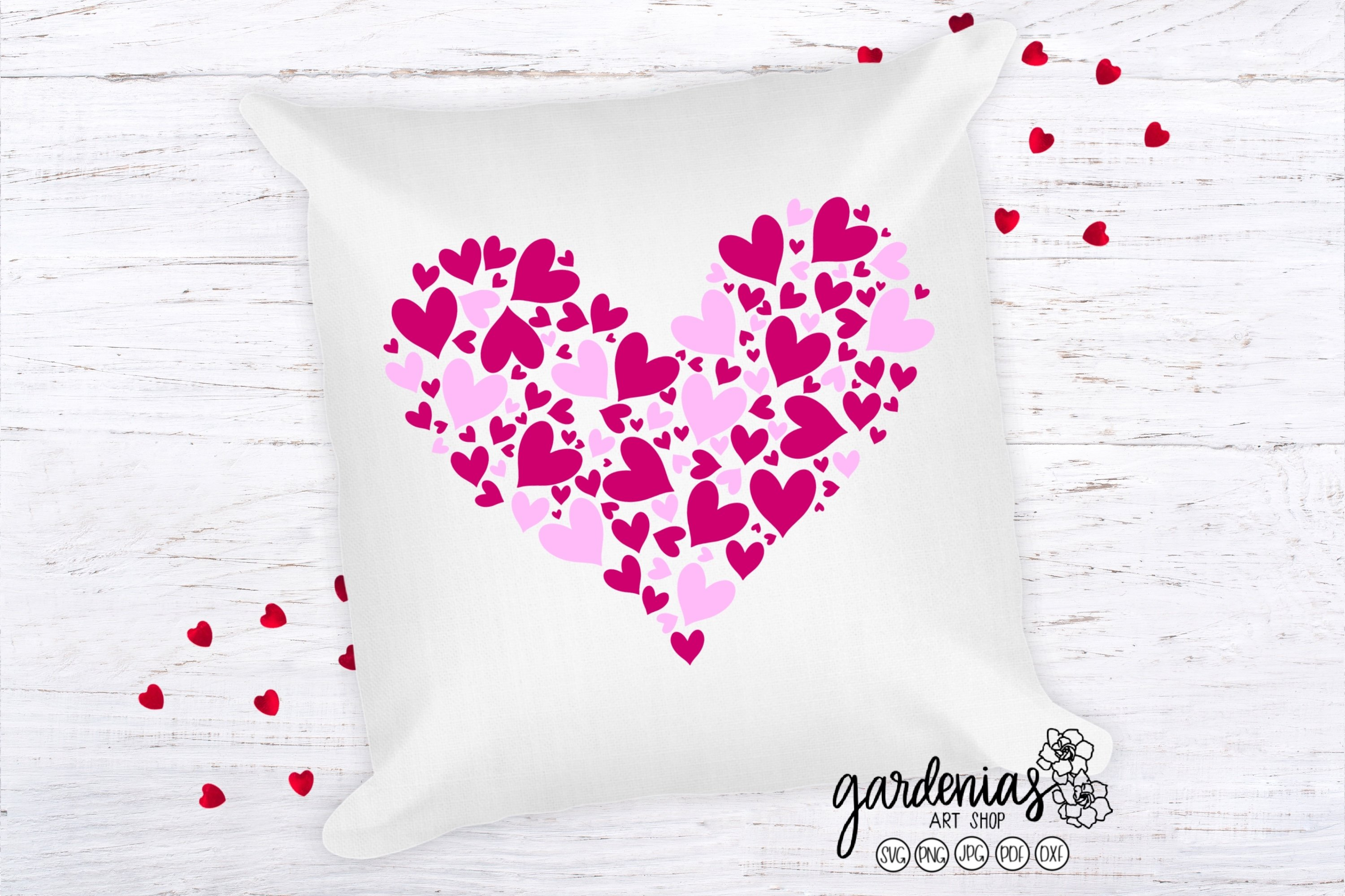 Pink Hearts in Heart SVG | Valentine's Day Sublimation example image 3