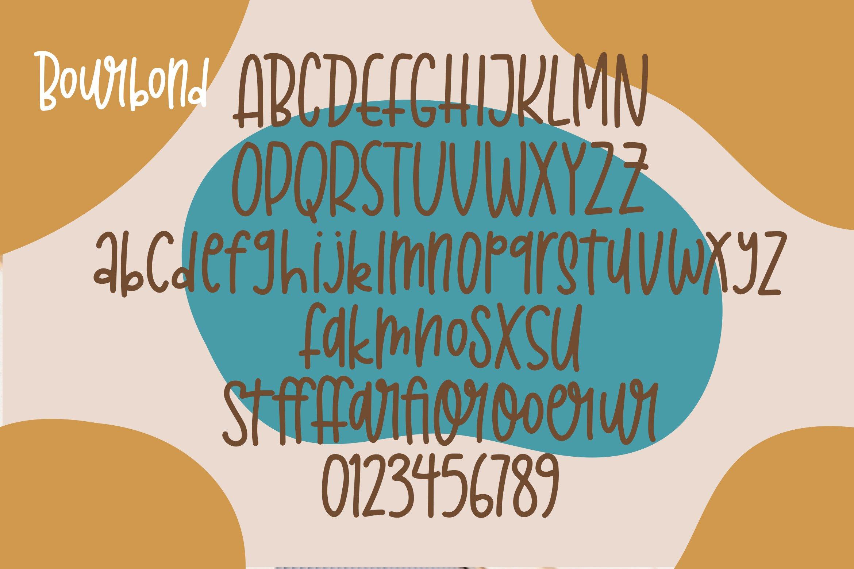 Bourbond - Handlettered Font example image 5