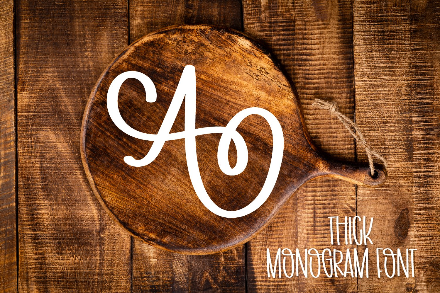 Thick Monogram Font - A-Z Letters example image 1