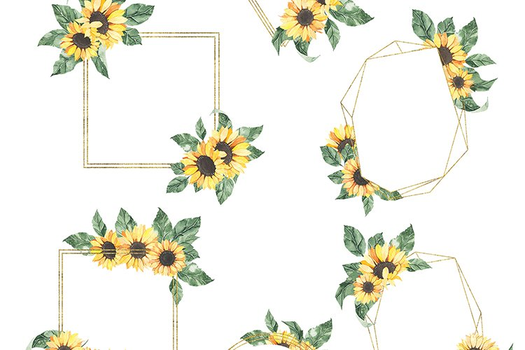 Watercolor Sunflowers collection example image 7
