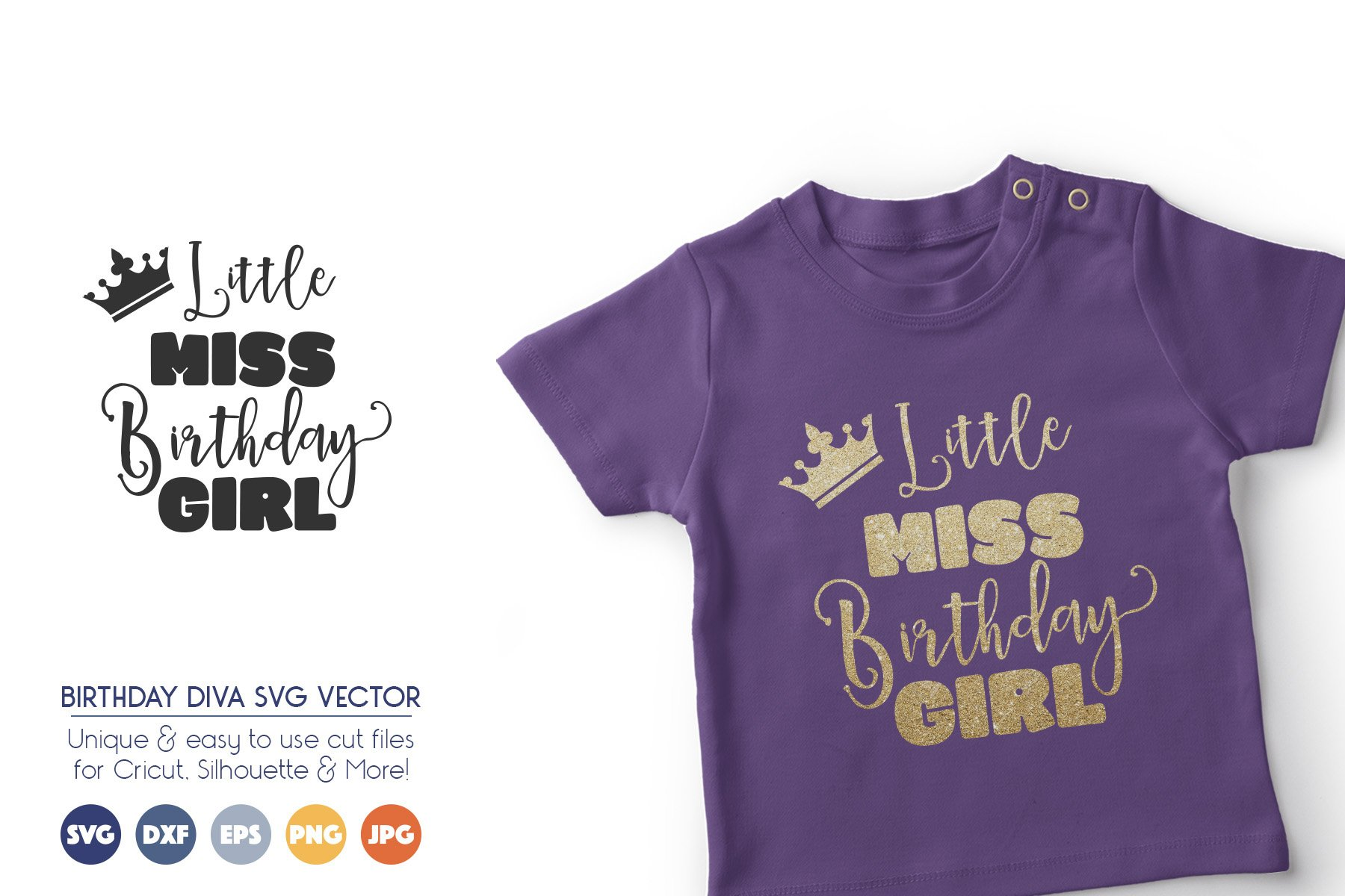 Birthday Girl SVG Cut Files - Princess SVG File example image 1
