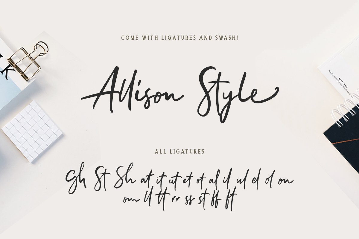 Allison Style - Font Duo example image 2