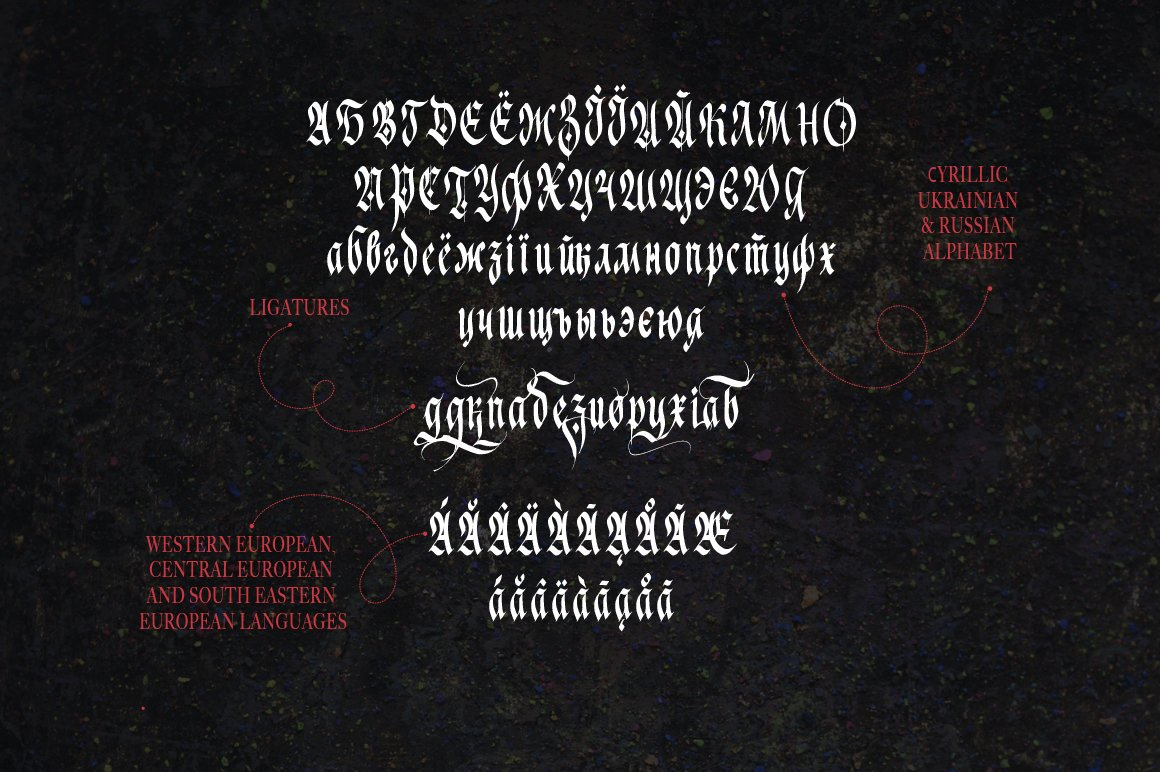 Just Imagine. Blackletter Font. example image 12