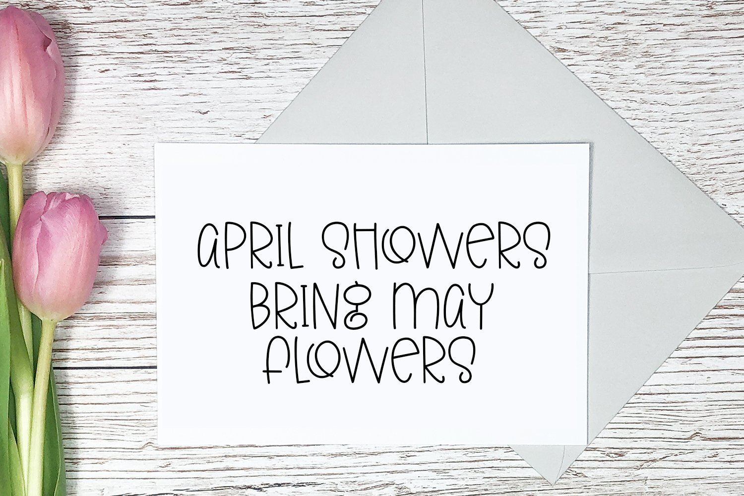 Colors of Spring - A Quirky Hand-Lettered Font example image 3