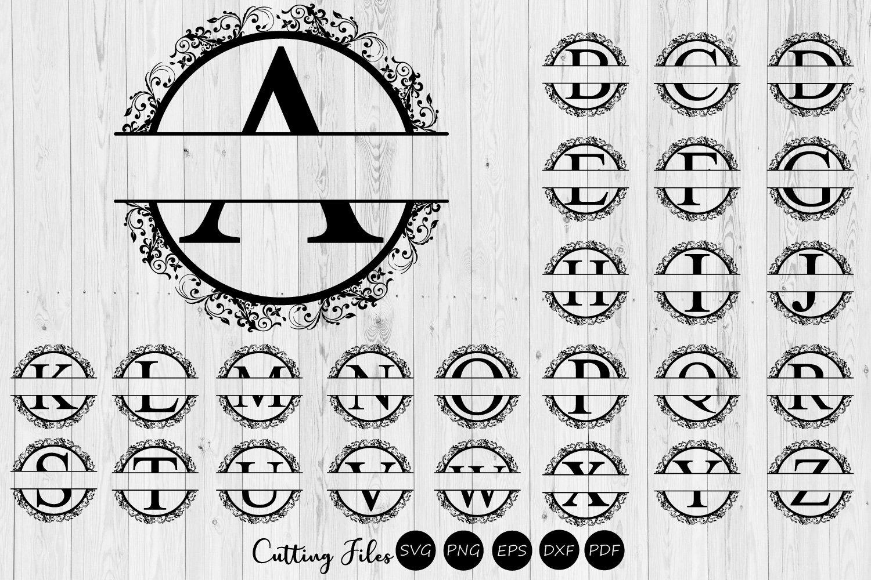 Split Letters Floral Monogram Alphabet Svg Commercial Use 303480 Svgs Design Bundles