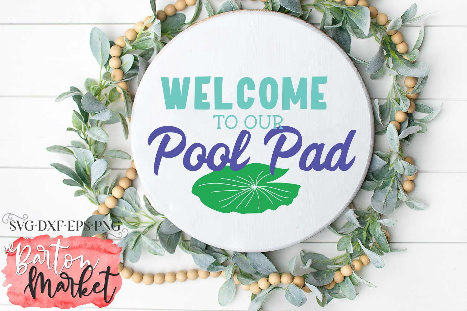 Welcome To Our Pool Pad SVG DXF EPS PNG example image 2