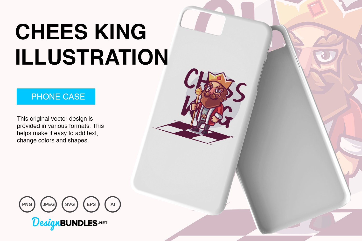 Chess King Vector Illustration example image 4