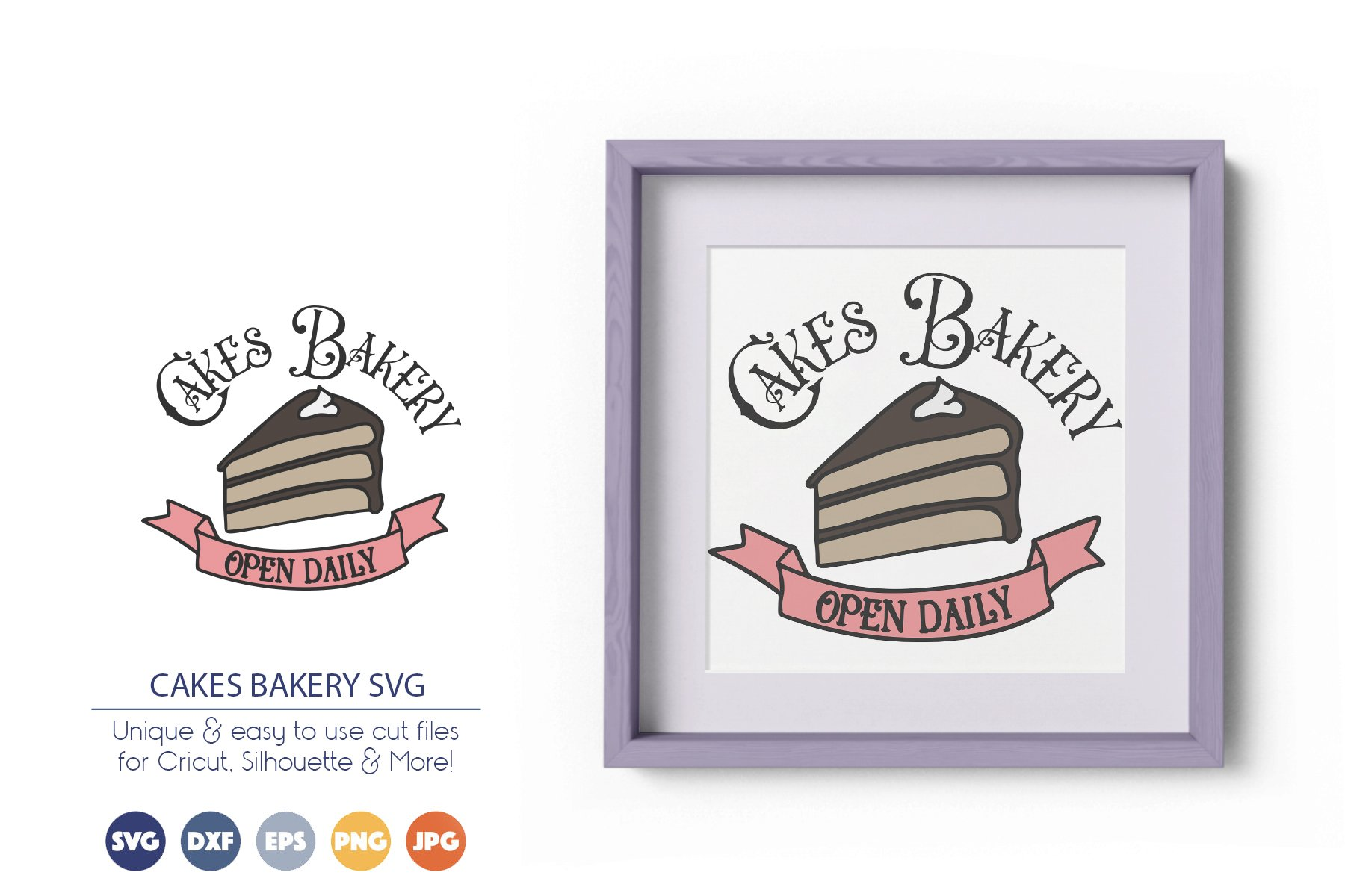Cakes Bakery SVG | Kitchen Sign SVG example image 1