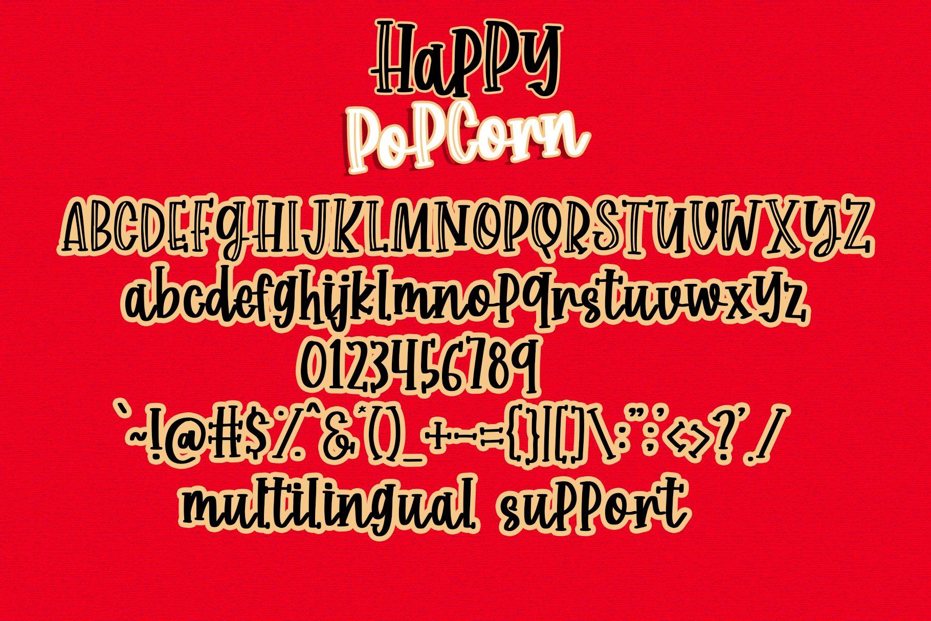 Happy Popcorn - Handwritten Font example image 6