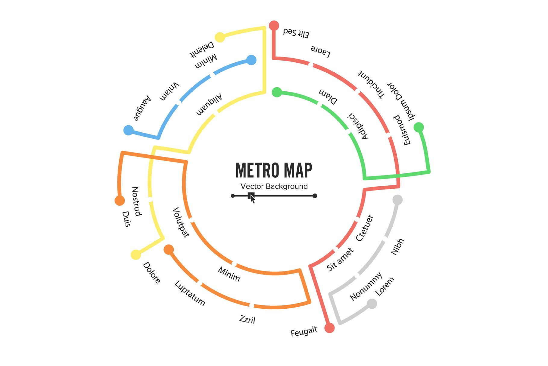 Metro Map Vector. Plan Map Station Metro And Underground example image 1